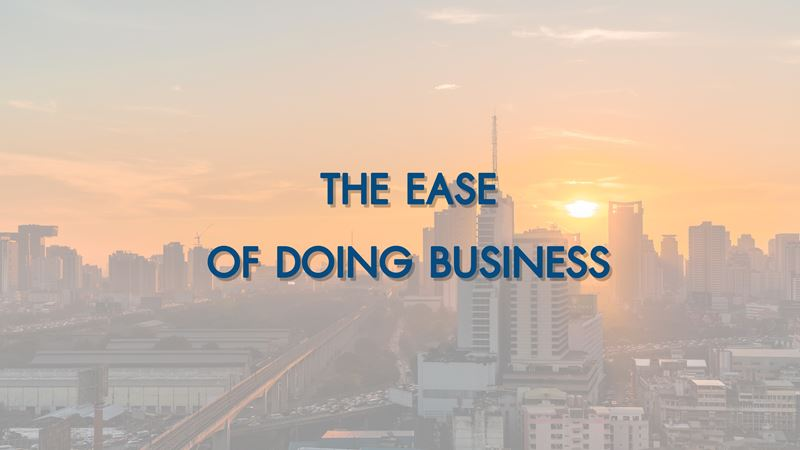 THE EASE OF DOING BUSINESS